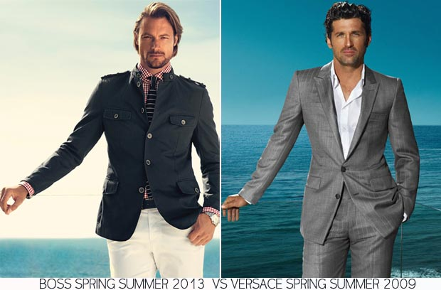 similar fashion ads Boss 2013 Versace 2009 Spring Summer