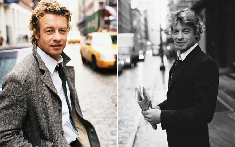 Simon Baker magazine spread 1