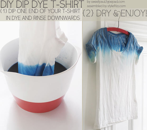 Simple Dip Dye T Shirt