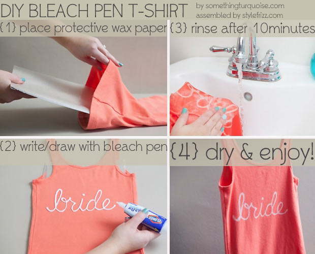 Simple DIY bleach pen T Shirt