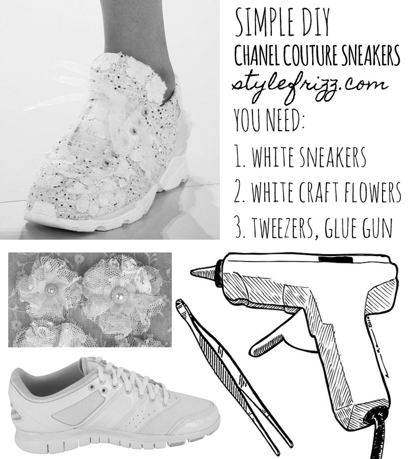Simple DIY Chanel Couture Sneakers for less