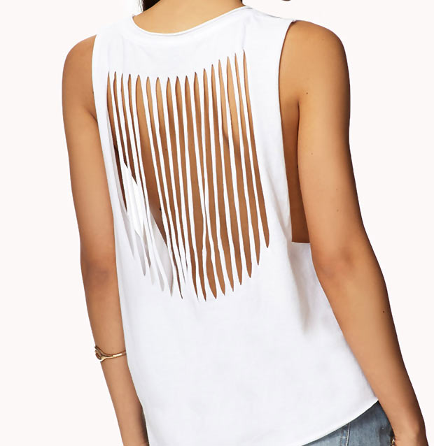 Simple DIY Cut out back t shirt