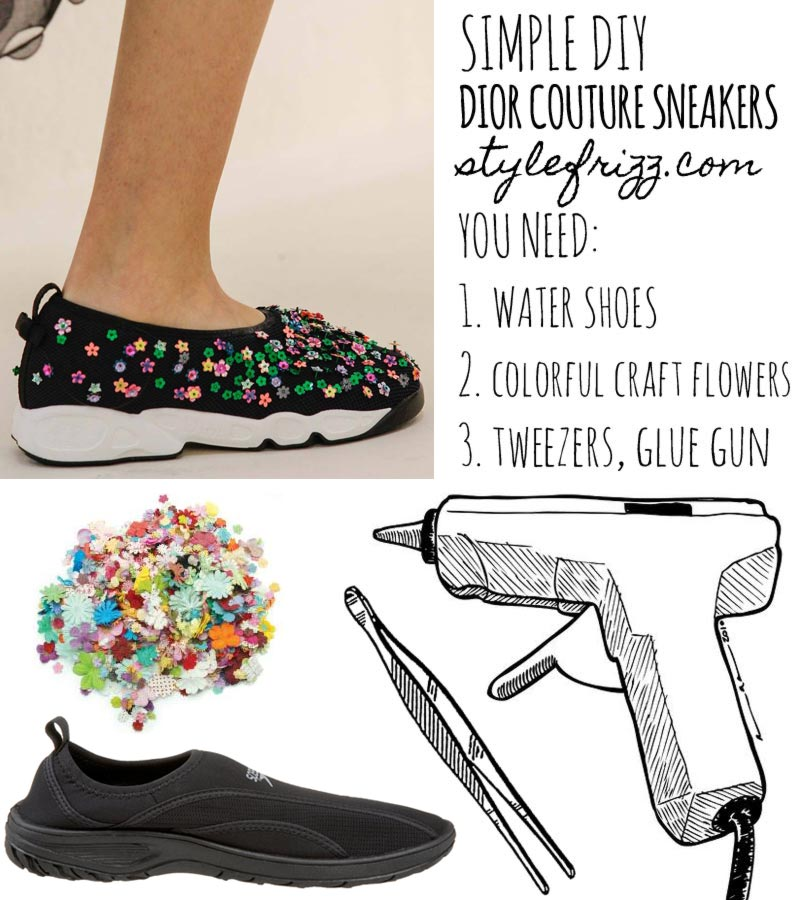 Simple DIY Dior Couture sneakers for less