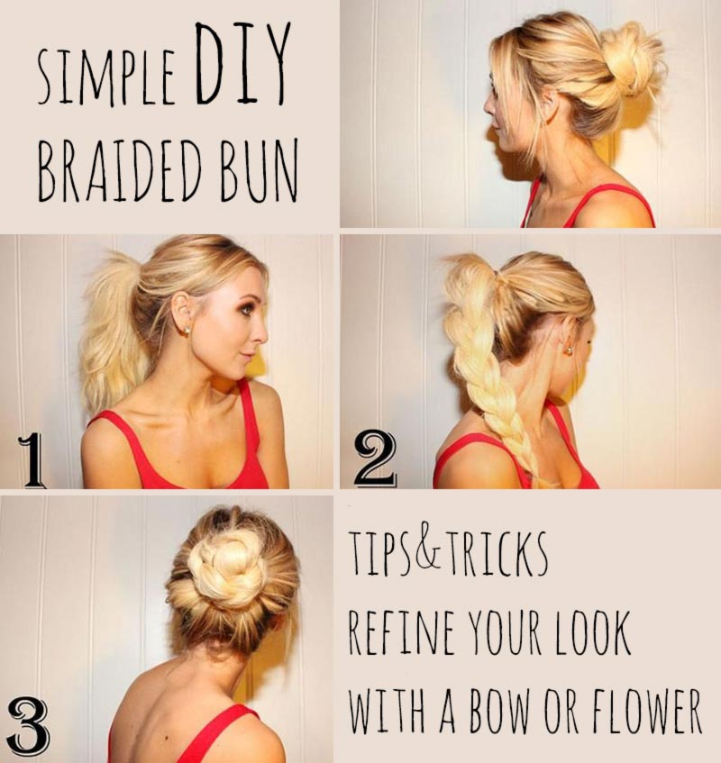 Simple Diy Spring Summer Hairstyle Braided Bun Stylefrizz Photo