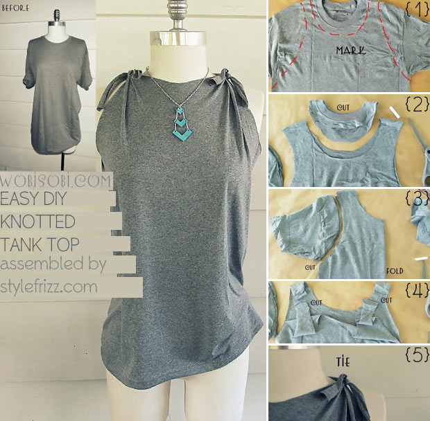 Simple DIY Knotted Tank Top