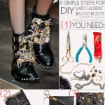Simple DIY Sant Laurent Boots