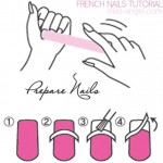 simple French nails tutorial