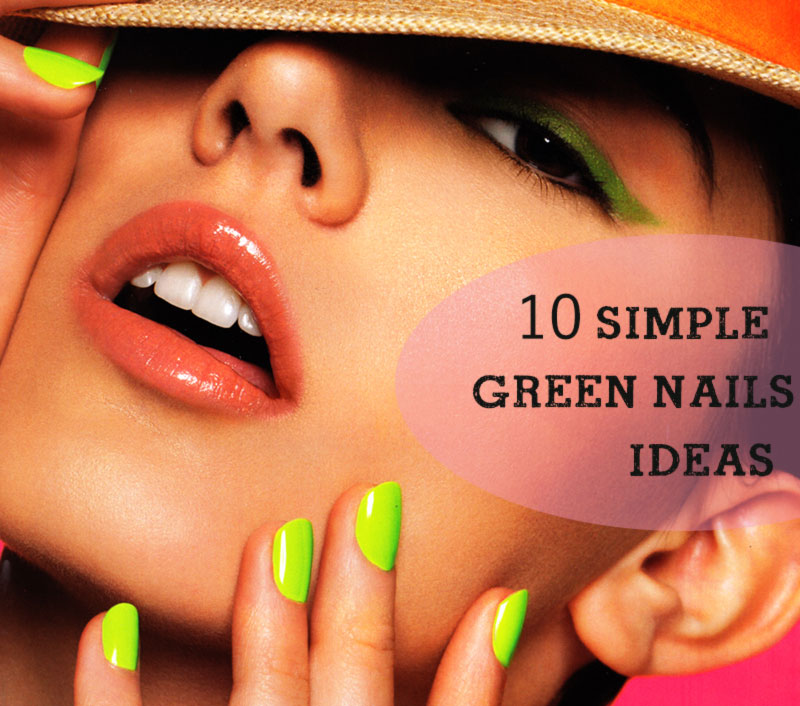 simple green nails ideas