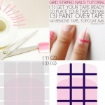 simple grid striped nails tutorial