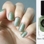simple spring green nails Cirque Hellebore