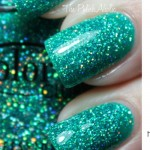 simple spring nails holo glitter Color Club