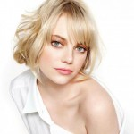 simple styling Emma Stone Glamour UK February 2013