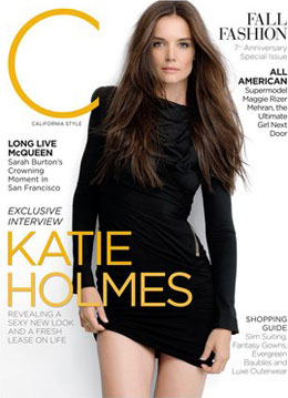 single Katie Holmes on the cover of C Magazine