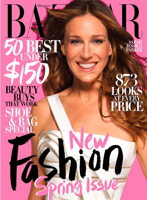 SJP Harper s Bazaar March 09 cover