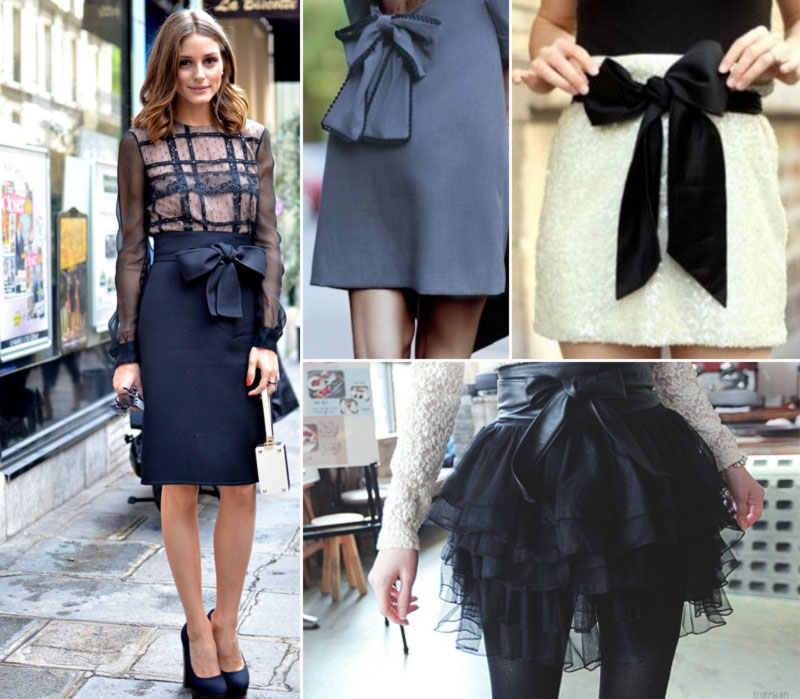 skirts with bows looking lovely