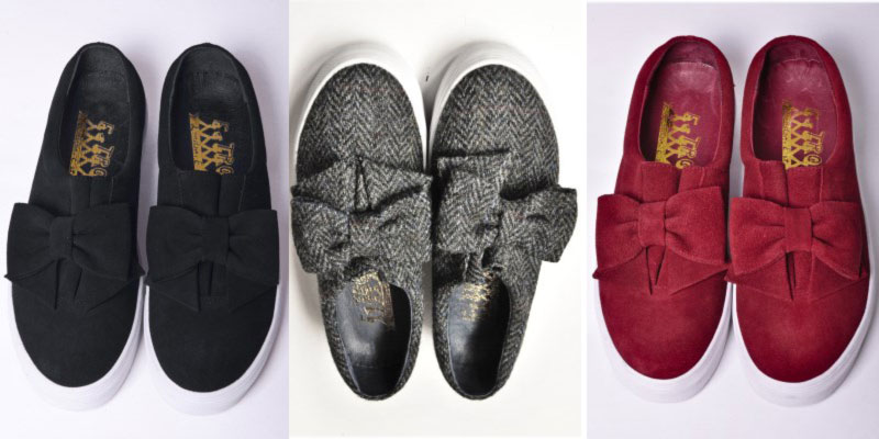 slip on sneakers with bows FTroupe