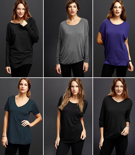 slouchy tees Gap Pure
