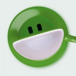 Smile cup by Psyho green
