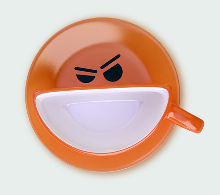 Smile Cup by Psyho orange