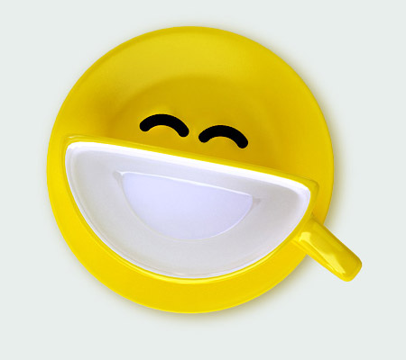 Smile Cup by Psyho yellow