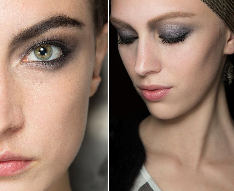 Smoky eyes makeup catwalk Armani Prive