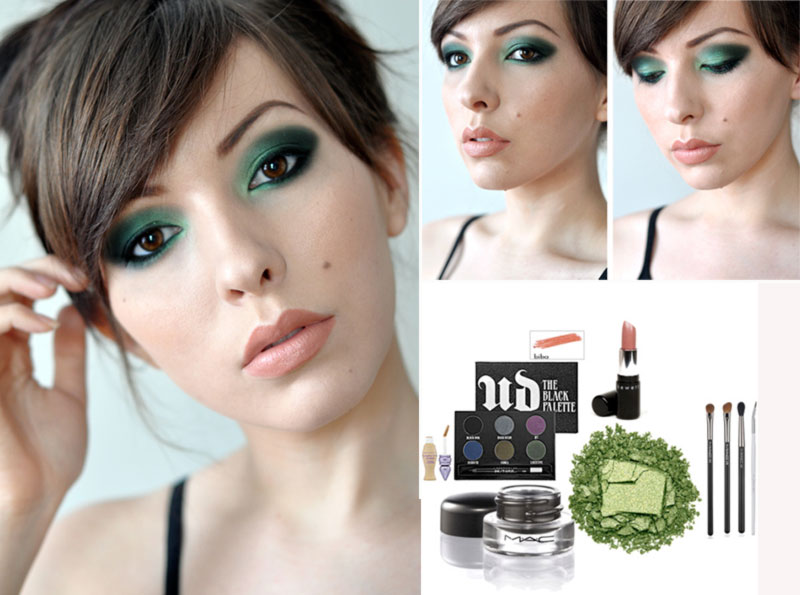 smoky green eyes spring makeup inspiration