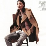 sneakers with formal wear Vogue China January 2013