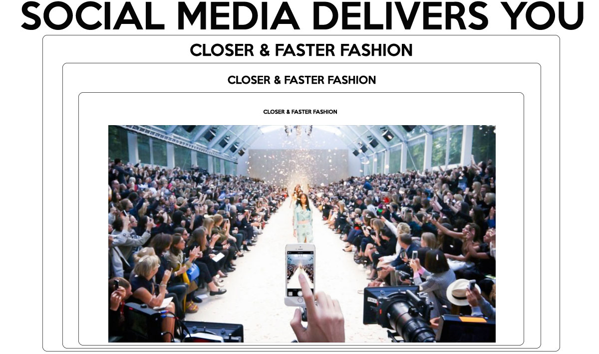 social media instant fashion online streaming