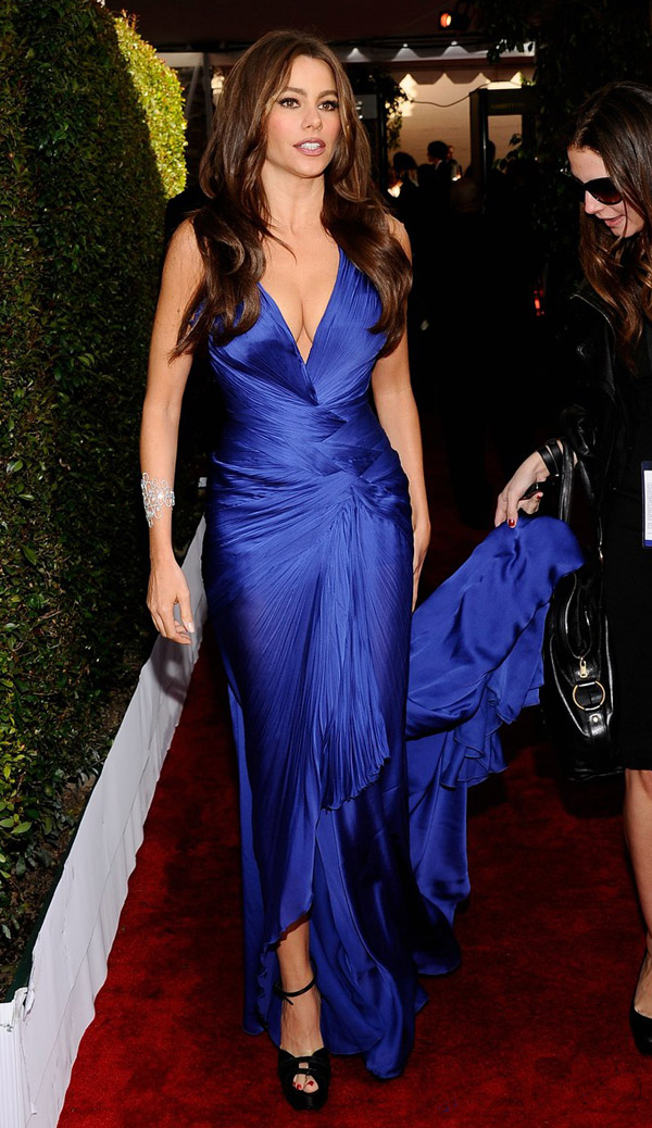 Sofia Vergara Cavalli Blue Dress 2011 SAG Awards 1