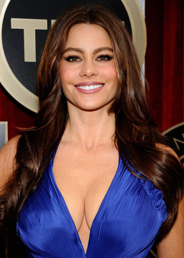Sofia Vergara Cavalli Blue Dress 2011 SAG Awards 2