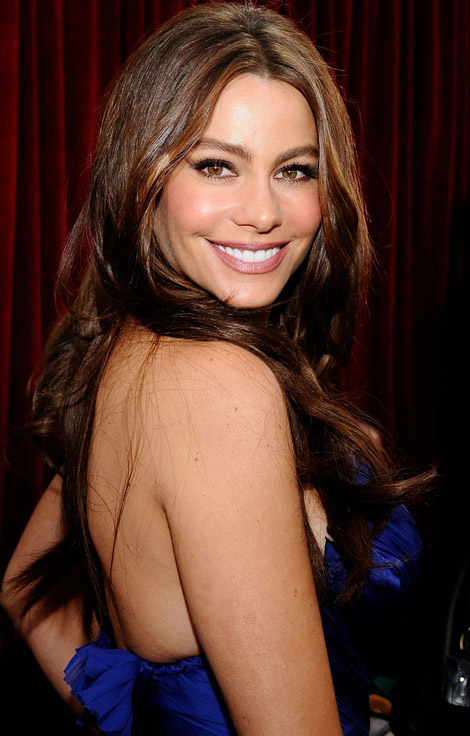 Sofia Vergara's Blue Roberto Cavalli Dress For 2011 SAG Awards
