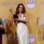 Sofia Vergara Donna Karan white dress 2013 SAG Awards