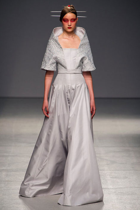 soft gray Gareth Pugh Spring Summer 2013