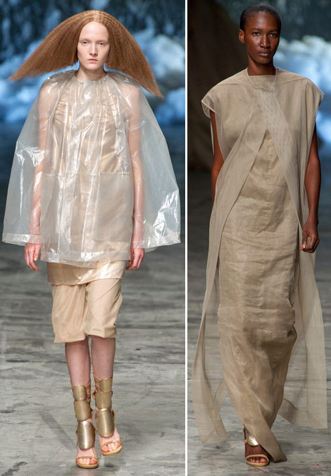 soft layers for summer 2013 Rick Owens 5 Summer Fashion Staples From Rick Owens Spring 2013