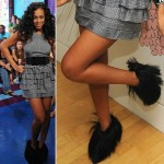 Solange Knowles Furry Boots