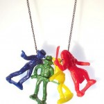 Soldiers Indians Toy Necklace