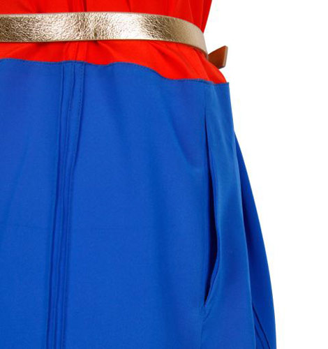 Sonia Rykiel Colette DC Comics Wonder Woman dress detail