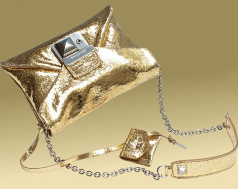 Sonia Rykiel golden bag