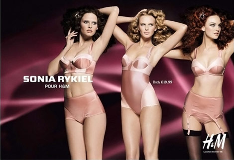 Sonia Rykiel H M lingerie collection ad