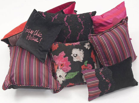 Sonia Rykiel Roche Bobois home collection cushions