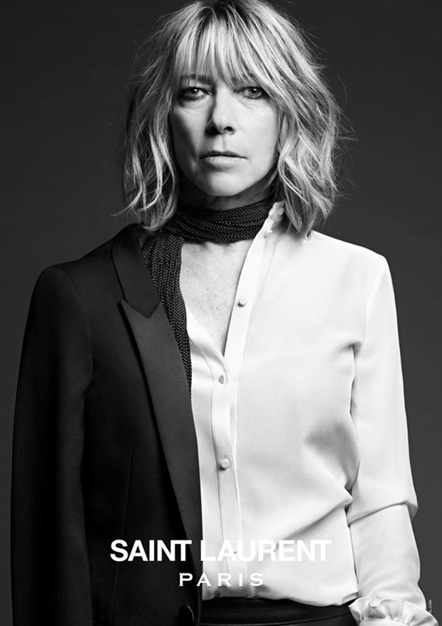 Sonic Youth Kim Gordon Saint Laurent ad campaign Slimane