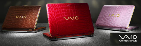 Sony Vaio Crocodile skin laptop