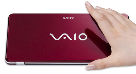 Sony Vaio P Series lifestyle netbook red