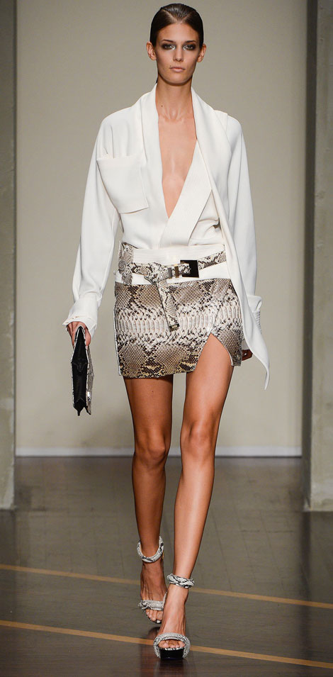 sophisticated skirt and shirt Ferre Spring 2013