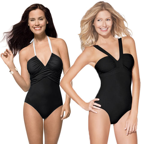 Spanx black swimsuits