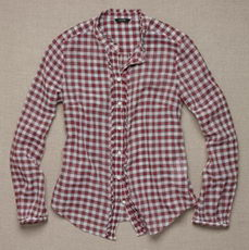 Sparkle plaid Margaret Shirt in Red JCrew