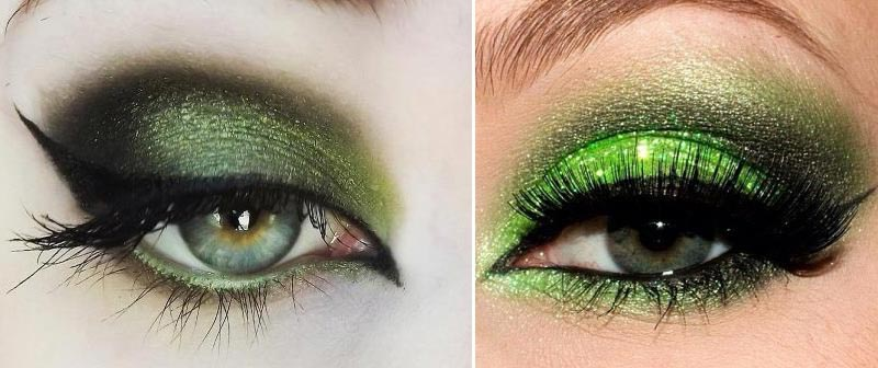 special party makeup green