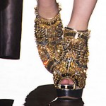 spiked golden shoes DSquared2