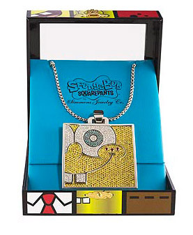Sponge Bob Dimaonds necklace Simmons Co