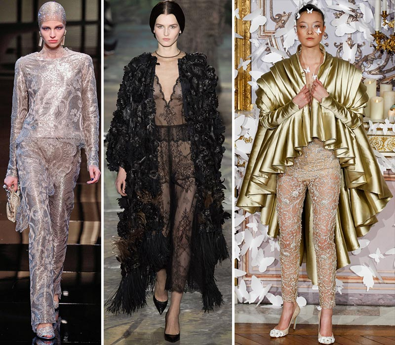 Spring 2014 Couture pants Armani Valentino Mabille